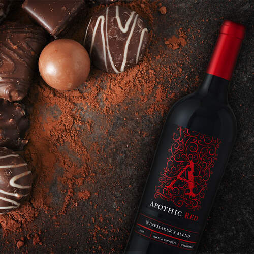 Apothic Red with Chocolate Candies